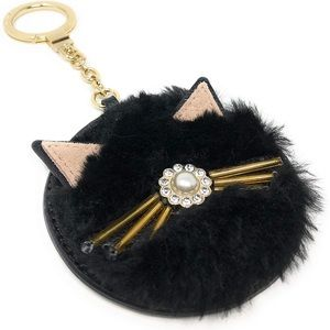 Kate Spade Kitty Cat 🐈 Pouf Key Fob Bag Charm